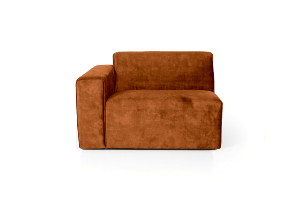 Manhattan | Modul med arm i velour - 1 seater